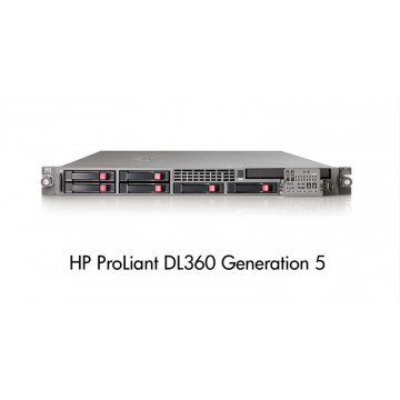 HP DL360 G5, 2x Xeon Quad Core E5450 3.0Ghz, 8Gb DDR2 FBD, 2x 146Gb SAS Servere second hand