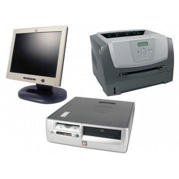 HP DX5150, AMD 2.0Ghz, 1Gb, 80Gb + LCD 17 inci + Imprimanta Laser Lexmark E360D