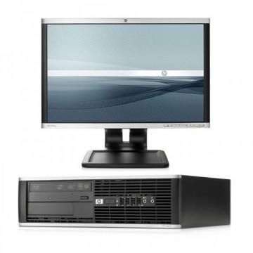HP Elite 8000 SFF, Intel Core 2 Duo E8400 3.0GHz, 4GB DDR3, 250GB SATA, DVD-RW + Monitor LA1905WG