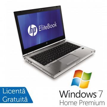 Hp EliteBook 8460p, Intel Core i5-2520M Gen. 2, 2.5Ghz, 8Gb DDR3. 500Gb SATA II, DVD-RW, 14 inch LED-Backlit HD + Windows 7 Home Premium Laptopuri Refurbished