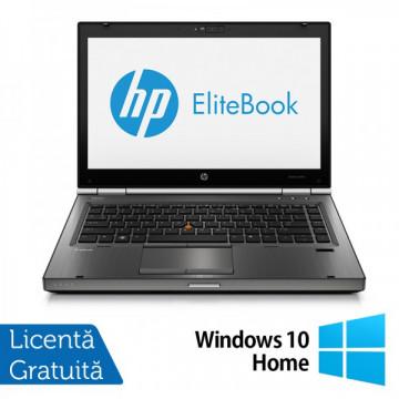 Hp EliteBook 8470p, Intel Core i5-3210M Gen. 3, 2.5GHz,4Gb DDR3. 320Gb SATA II, DVD-RW, 14 inch LED-Backlit HD + Windows 10 Home Laptopuri Refurbished