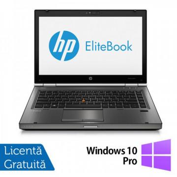 Hp EliteBook 8470p, Intel Core i5-3210M Gen. 3, 2.5GHz, 8Gb DDR3. 320Gb SATA, DVD-RW, 14 inch LED-Backlit HD + Windows 10 Pro Laptopuri Refurbished
