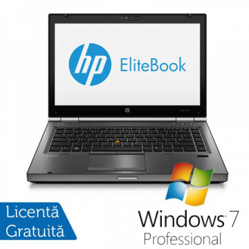Hp EliteBook 8470p, Intel Core i5-3210M Gen. 3, 2.5GHz, 8Gb DDR3. 320Gb SATA, DVD-RW, 14 inch LED-Backlit HD + Windows 7 Professional Laptopuri Refurbished