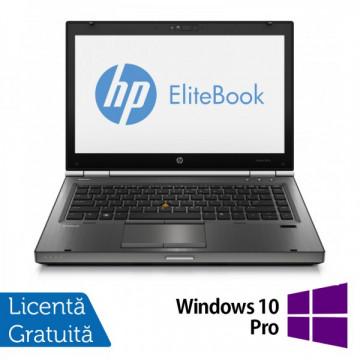 Hp EliteBook 8470p, Intel Core i5-3320M Gen. 3, 2.6GHz,4Gb DDR3. 320Gb SATA II, DVD-RW, 14 inch LED-Backlit HD + Windows 10 Pro Laptopuri Refurbished