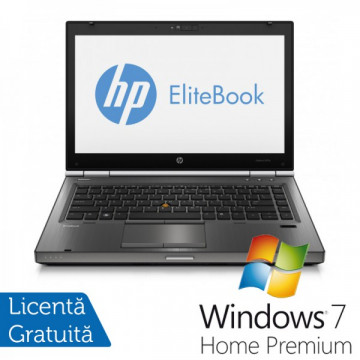 Hp EliteBook 8470p, Intel Core i5-3320M Gen. 3, 2.6GHz,4Gb DDR3. 320Gb SATA II, DVD-RW, 14 inch LED-Backlit HD + Windows 7 Home Premium Laptopuri Refurbished