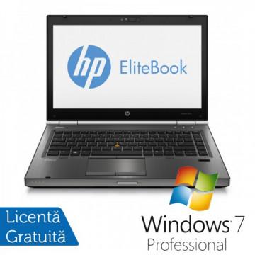 Hp EliteBook 8470p, Intel Core i5-3320M Gen. 3, 2.6GHz,4Gb DDR3. 320Gb SATA II, DVD-RW, 14 inch LED-Backlit HD + Windows 7 Professional Laptopuri Refurbished
