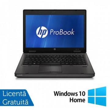 HP ProBook 6460b, Intel Core i3-2310M 2.1GHz Gen. 2, 4Gb DDR3, 250GB HDD, DVD-RW, Wi-Fi, Display 14 inch + Windows 10 Home Laptopuri Refurbished