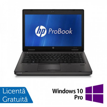 HP ProBook 6460b, Intel Core i3-2310M 2.1GHz Gen. 2, 4Gb DDR3, 250GB HDD, DVD-RW, Wi-Fi, Display 14 inch + Windows 10 Pro Laptopuri Refurbished