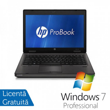 HP ProBook 6460b, Intel Core i3-2310M 2.1GHz Gen. 2, 4Gb DDR3, 250GB HDD, DVD-RW, Wi-Fi, Display 14 inch + Windows 7 Professional Laptopuri Refurbished