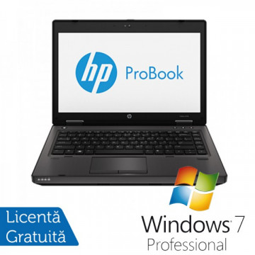HP ProBook 6470b, Intel Core i5-3210M Gen. a 3-a 2.5GHz, 4Gb DDR3, 500Gb HDD, DVD-RW, Wi-Fi, 14 Inch + Windows 7 Professional Laptopuri Refurbished