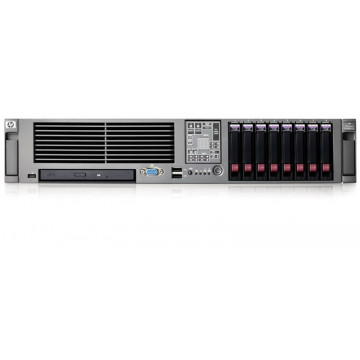 HP Proliant DL380 G5, 2x Xeon Quad Core E5335 2.0Ghz, 8Gb DDR2 FBD, 2x 146Gb SAS, p400 RAID, DVD Servere second hand