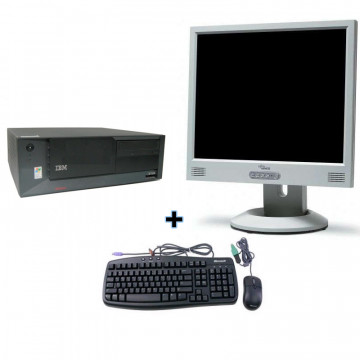 IBM SFF Desktop Intel P4 2.8Ghz,512mb, 40gb + Monitor 15 LCD