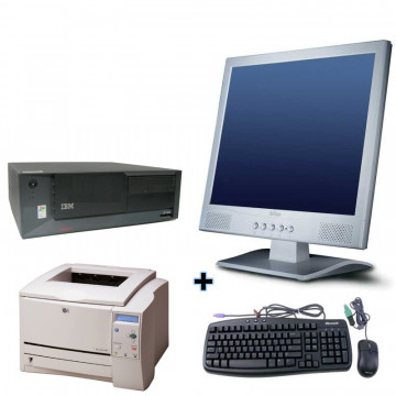 IBM SFF Desktop Intel P4 2800MHz + Monitor lcd 17 + Imprimanta Laser HP 1160