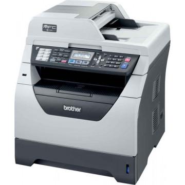 Imprimanta Multifunctionala Brother MFC-8380DN, 30 PPM, 1200 x 1200 DPI , Duplex, Retea, A4, Monocrom, Cartus si Unitate Drum Noi, Second Hand Imprimante Second Hand