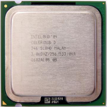 Intel Celeron D 346, 3060Mhz, Socket 775, 256K Cache