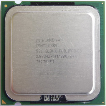 Intel Pentium 4, 2800 Mhz, 1Mb Cache, Socket 775