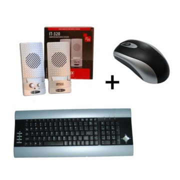 Kit mouse + tastatura + boxe 350w