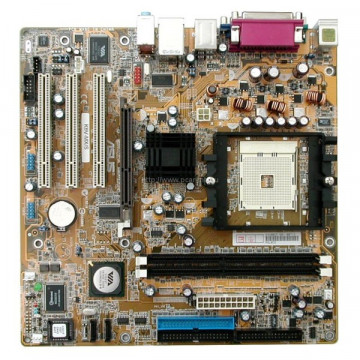 Kit Placa de baza Asus K8V-MX/S, Socket 754, AGP, DDR + Procesor AMD Sempron 2800+