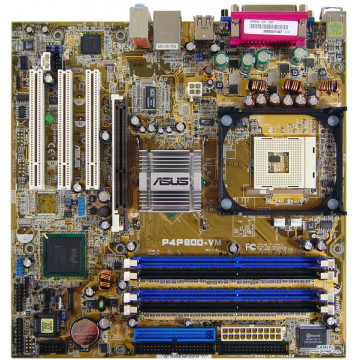 Kit Placa de baza Asus P4P800-VM, Socket 478 + Procesor Intel Pentium 4, 2.8Ghz + Cooler