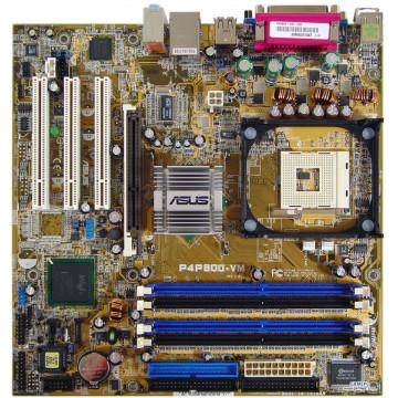 Kit Placa de baza Asus P4P800-VM, Socket 478 + Procesor Intel Pentium 4, 3.2Ghz + Cooler