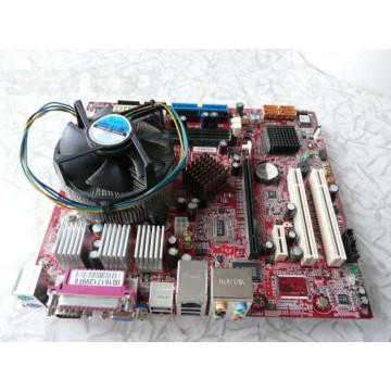 KIt Placa de baza MSI 7173 cu procesor Intel Celeron D 351 si Cooler DDR2, SATA, PCI Express, Socket 775