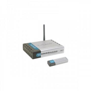 Kit Wireless D-Link DWL-922, Router + Stick Retelistica