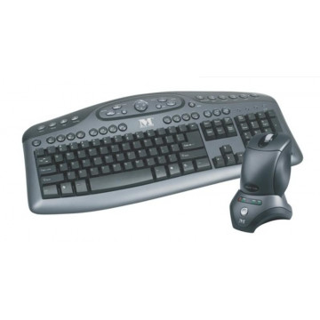 Kit Wireless Modecom MC-6100 Black, Tastatura + Mouse