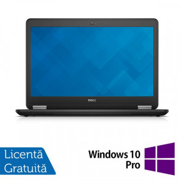 Laptop DELL Latitude E7450, Intel Core i5-5300U 2.30 GHz, 8GB DDR3, 256GB SSD + Windows 10 Pro Laptopuri Refurbished