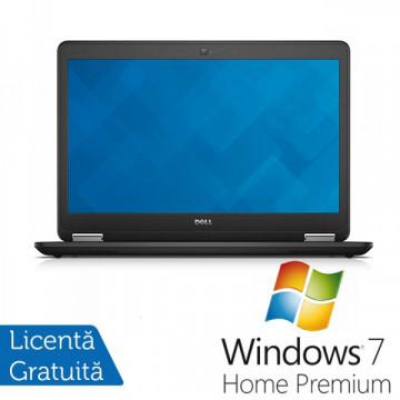 Laptop DELL Latitude E7450, Intel Core i5-5300U 2.30 GHz, 8GB DDR3, 256GB SSD + Windows 7 Home Premium Laptopuri Refurbished