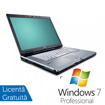Laptop Fujitsu Siemens E8310, Core 2 Duo T7300, 2.0Ghz, 2Gb, 120Gb, DVD-RW + Win 7 Pro Laptopuri Second Hand