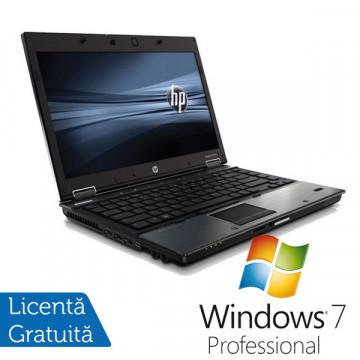 Laptop HP 8440P, Intel Core i5-540M, 4GB DDR3, 250GB SATA, DVD-RW + Windows 7 Professional Laptopuri Refurbished