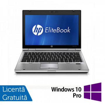 Laptop Hp EliteBook 2560p, Intel Core i5-2540M 2.6Ghz, 4Gb DDR3, 320Gb SATA, DVD-RW, 12,5 inch LED-backlit HD, DisplayPort + Windows 10 Pro