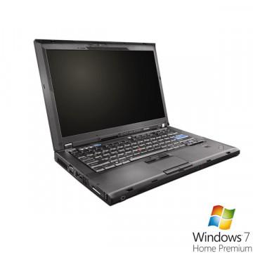 Laptop Lenovo ThinkPad T400, Core 2 Duo P8600, 2.4Ghz, 2Gb, 160Gb, DVD-RW + Win 7 Premium Laptopuri Second Hand