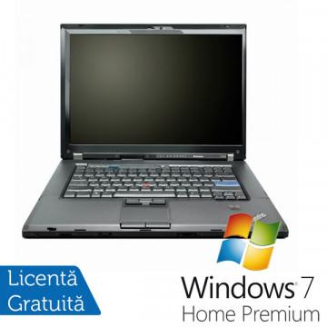 Laptop Refurbished Lenovo T500, P8400 2.2Ghz, 4Gb DDR3, 160Gb, Wi-Fi, DVD-RW, 15.4 Inci, ATI 3650 + Win 7 Premium Laptopuri Refurbished