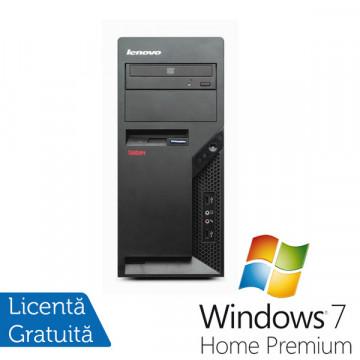 Lenovo A57 M9702, Intel Pentium Dual Core E2200, 2.2Ghz, 2Gb DDR2, 160Gb HDD, DVD-RW + Win 7 Premium Calculatoare Refurbished