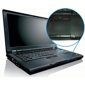 Lenovo T410s Slim Laptop, Intel Core i5-520M 2.4Ghz, 4Gb DDR3, 80Gb HDD, DVD-RW, 14 inci, Crapatura palmrest Laptopuri Second Hand