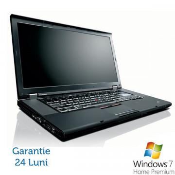 Lenovo T510, Intel Core i5-520M 2.4Ghz, 4Gb DDR3, 160Gb HDD, DVD-RW, Wi-Fi, Bluetooth + Win 7 Home + 24 Luni Garantie Laptopuri Refurbished