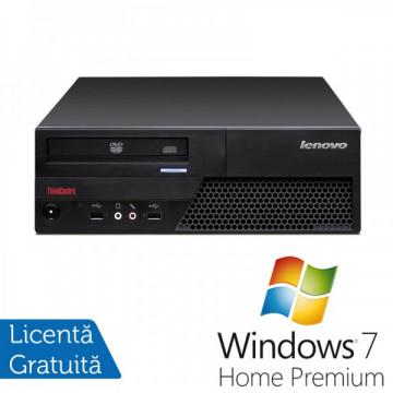 Lenovo ThinkCentre M58p Desktop, Intel Core 2 Duo E8400, 3.0Ghz, 4Gb DDR3, 250Gb HDD, DVD-RW + Windows 7 Home Premium Calculatoare Refurbished