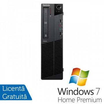 Lenovo Thinkcentre M92p SFF, Intel Core i5-3550 Gen 3, 3.3Ghz, 4Gb DDR3, 320Gb HDD, DVD-RW + Windows 7 Home Premium Calculatoare Refurbished