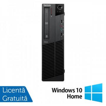 Lenovo Thinkcentre M92p SFF, Intel Core i5-3550 Gen 3, 3.3Ghz, 4Gb DDR3, 500Gb HDD, DVD-RW + Windows 10 Home Calculatoare Refurbished