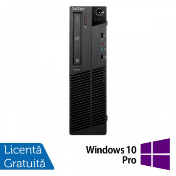 Lenovo Thinkcentre M92p SFF, Intel Core i5-3550 Gen 3, 3.3Ghz, 4Gb DDR3, 500Gb HDD, DVD-RW + Windows 10 Pro Calculatoare Refurbished