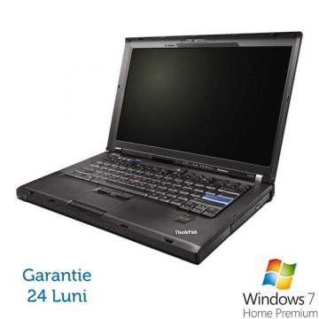 Lenovo ThinkPad R400, Intel Core 2 Duo P8400, 2.26Ghz, 2Gb DDR3, 160Gb SATA, DVD-RW, Wi-Fi, Bluetooth + Win 7 Premium + 36 luni Garantie Laptopuri Refurbished