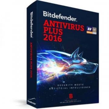 Licenta Bitdefender Antivirus Plus 2016, 1 AN, 1 PC Software