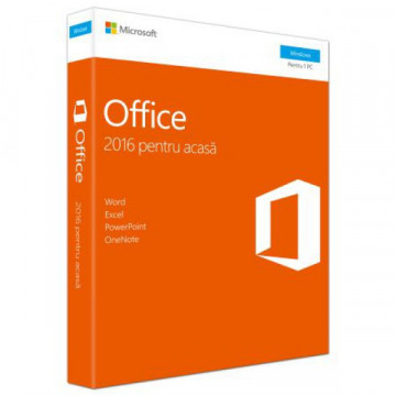 Licenta retail Microsoft Office 2016 Home and Student 32-bit/x64 32- bit/x64 Romanian, Medialess Software