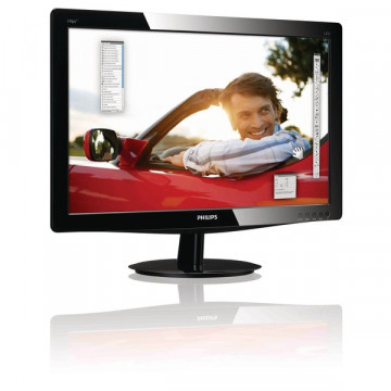 Monitoare LED Philips 196V3LSB, 18.5 inci, 1366 x 768, VGA, DVI Monitoare Second Hand