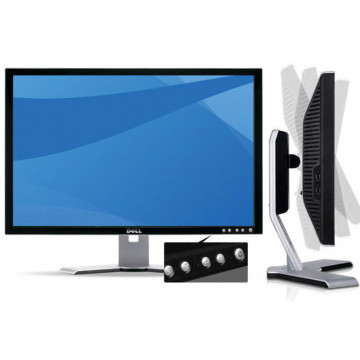 Monitor DELL 2208WFPT LCD, 22 Inch, 1680 x 1050, VGA, DVI, 4x USB, Second Hand Monitoare Second Hand