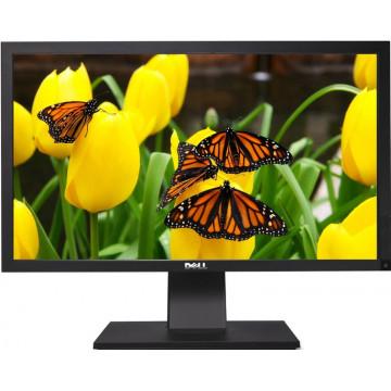 Monitor Profesional Full HD Dell P2411Hb, 24 inch LED-Backlight, 5 ms, VGA, DVI, USB, 1920 x 1080, Grad A- Monitoare cu Pret Redus