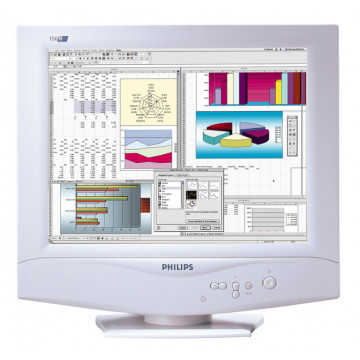 Monitor Sh Philips 150B, 15 inci Active Matrix TFT LCD, VGA Monitoare Second Hand