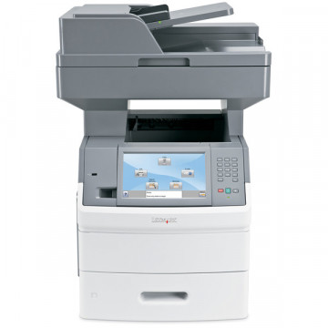 Multifunctionala Laser Monocrom Lexmark X656de, Duplex, A4, 55 ppm, 1200 x 1200dpi, Scaner, Copiator, Fax, USB, Retea Imprimante Second Hand