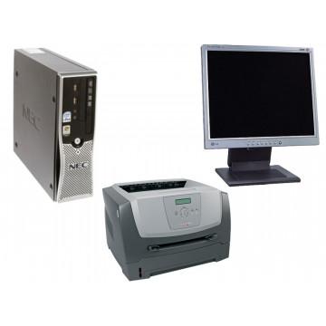 Nec ML460, Core 2 Duo, 2.4Ghz, 1Gb, 80Gb + LCD 17 inci + Imprimanta Lexmark E350D